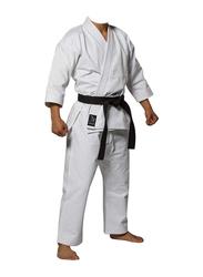 Riaz International 5/180 12-oz 100% Cotton/Canvas Kata Japanese Pattern Men's Cut Karate Uniform, White