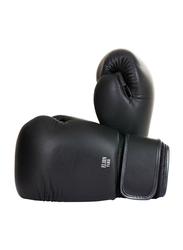Riaz International 12-oz 100% Leather Boxing Full Finger Gloves, Black