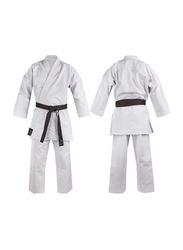 Riaz International 4/170 12-oz 100% Cotton/Canvas Kata Japanese Pattern Lady's Cut Karate Uniform, White