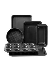 Royalford 6-Piece Bakeware Set, 38 x 26.5 x 1.8cm, Black