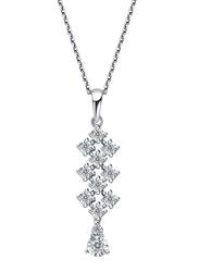 Liali Jewellery Joie de Vivre 18K White Gold Pendant for Women, Silver
