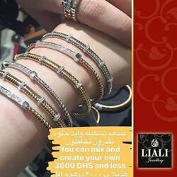 Liali Jewellery Tessitore 18K Yellow Gold Bangle for Women with 15 Diamond, Gold