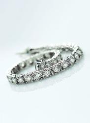 Liali Jewellery Mirage 18K White Gold Designer Bracelet for Women with 60 Diamond, Silver