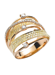 Liali Jewellery Midnight 18K Rose Gold Stacking Ring for Women with 159 Diamond, Rose Gold, US 7