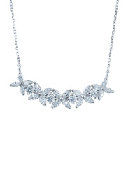 Liali Jewellery Red Carpet 18K White Gold Statement Necklace for Women with 1.71ct Diamond Stone, White