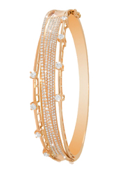 Liali Jewellery Midnight 18K Rose Gold Bangle for Women with 266 Diamond, Rose Gold