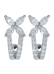 Liali Jewellery Red Carpet 18K White Gold Drop Earrings for Women with 0.92ct Diamond Stone, White
