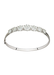 Liali Jewellery Mirage 18K White Gold Bangle for Women with 104 Diamond, Silver