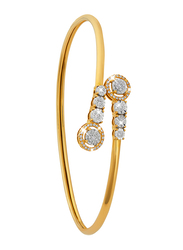 Liali Jewellery 18K Yellow Gold Charming Bangle for Women with 0.30ct Diamond Stone, Yellow