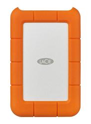 LaCie 2TB SSD Rugged Thunderbolt External Portable Mobile Hard Drive, USB-C, Orange
