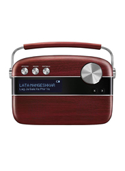 Saregama Carvaan SC03 Digital Music Wireless Portable Speaker, Cherrywood Red