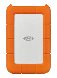 LaCie 1TB HDD Rugged External Portable Mobile Hard Drive, USB-C, Orange