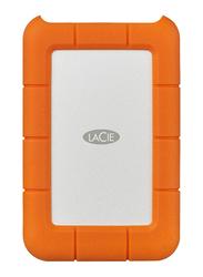 LaCie 5TB HDD Rugged Thunderbolt External Portable Mobile Hard Drive, USB-C, Orange