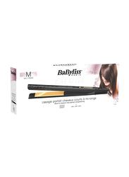 BaByliss Gold Ceramic Medium Hair Straightener, 25mm, ST420SDE, Black