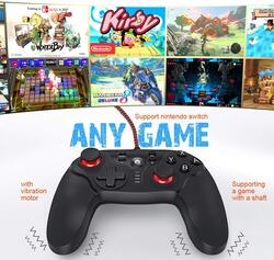 Gamewill Game Pad Wired Controller for Nintendo Switch, Black