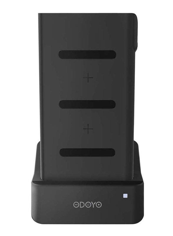 Odoyo 2in1 XC25 Wireless Charging Dock, Qi Enabled, 10W with Portable Battery Pack 6000mAh, Black