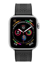 Spigen Retro Fit Watch Band for Apple Watch 44mm Series 5/4 and Apple Watch 42mm Series 3/2/1, Black