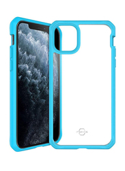 ITskins Apple iPhone 11 Pro Hybrid Dual Layer Mobile Phone Case Cover, with Hexotek 2.0 Drop Protection, Blue and Transparent