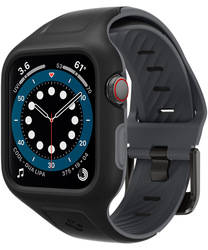 Spigen Apple Watch 40mm Series 6/ SE/5/4 Silicone band with case cover Liquid Air Pro, Black
