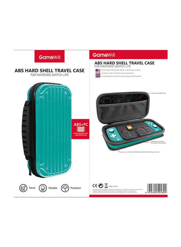 Gamewill ABS Hard Shell Travel Case for Nintendo Switch Lite, Turquoise