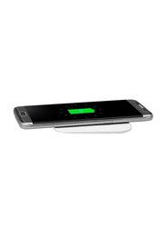Spigen Essential F302W Wireless Universal Charging Pad with Qi Technology, White
