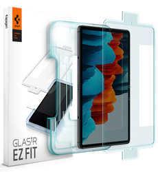 Spigen Samsung Galaxy Tab S7 (11 inch) Premium Tempered Glass Screen Protector GLAStR EZ FIT with Auto Align technology, (Case Friendly)
