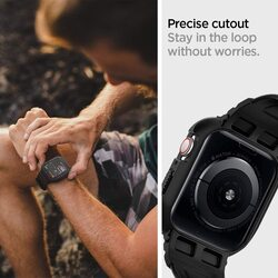 Spigen Apple Watch 40mm Series 6 / SE/5/4 TPU band with case cover Rugged Armor PRO, Black