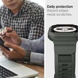 Spigen Apple Watch 40mm Series 6 / SE/5/4 TPU band with case cover Rugged Armor PRO, Military Green