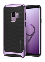 Spigen Samsung Galaxy S9 Neo Hybrid Mobile Phone Case Cover, with Herringbone Pattern, Lilac Purple