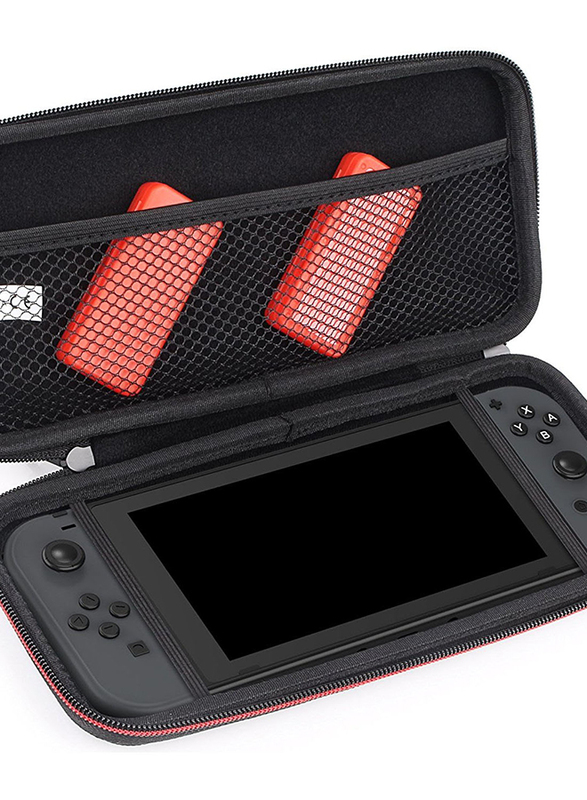 Gamewill Hard Shell Travel Case Kit for Nintendo Switch, with Game Card Cases, Black
