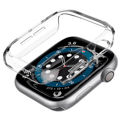 Spigen Apple Watch 44mm Series 6 / SE / 5/4 PC case cover Thin Fit, Crystal Clear