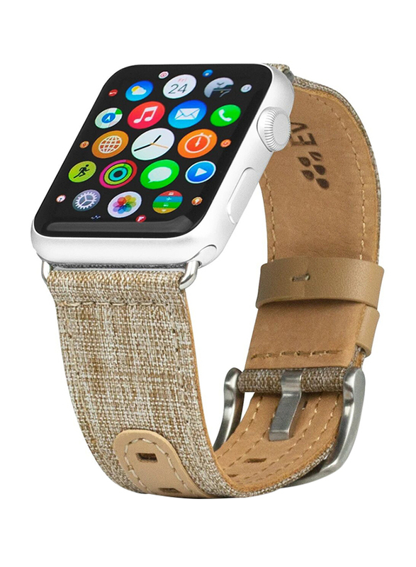 Evutec Northill Series Watch Band for Apple Watch 40mm/38mm Series 4/3/2/1, Tweed Tan