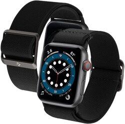 Spigen Apple Watch 40mm Series 6/SE/5/4 and 38mm Series 3/2/1 Fabric Band Lite Fit Strap, Black
