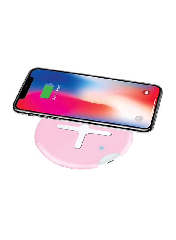 Odoyo XC5 Wireless Charging Pad, Qi Enabled, 10W Android, 7.5W iOS 11.2, Pink