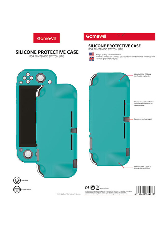 Gamewill Silicone Protective Case Cover for Nintendo Switch Lite, Turquoise