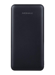 Momax 10000mAh iPower Minimal 6 IP67 Power Bank, Dual USB-A Port and Type-C, Portable Charger, Universal External Battery Pack, Black