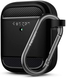 Spigen Apple Airpods 2 & 1 TPU Case Cover Rugged Armor (Front LED Visible), Black