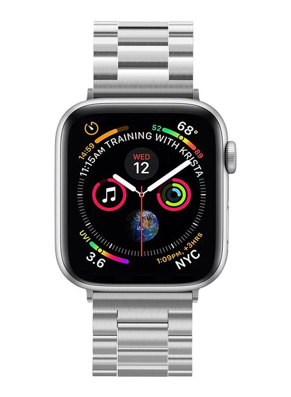 Spigen Modern Fit Watch Band for Apple Watch 44mm Series 4 and Apple Watch 42mm Series 3/2/1, Silver
