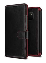 VRS Design Huawei Mate 20 Pro Layered Dandy Wallet Mobile Phone Flip Case Cover, Black