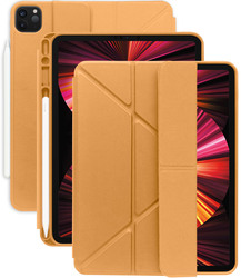 Torrii Apple iPad Pro 11 inch (2021/2020/2018) Case Cover Torrio PLUS Smart with Pencil Slot/Charging Notch, Brown