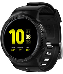Spigen Samsung Galaxy Watch Active 2 44mm TPU case cover with Band Rugged Armor PRO, Black
