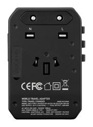 Momax UA7 1-World 42W Universal Wall Charger, USB-C PD Type-C and 3 x USB-A Ports, Black