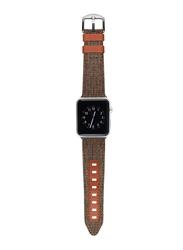 Evutec Northill Series Watch Band for Apple Watch 44mm/42mm Series 4/3/2/1, Brigandine Lava