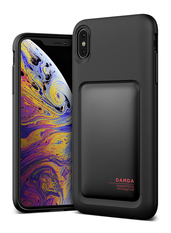 VRS Design iPhone XS Max Damda High Pro Shield Mobile Phone Back Case Cover, Matt Black