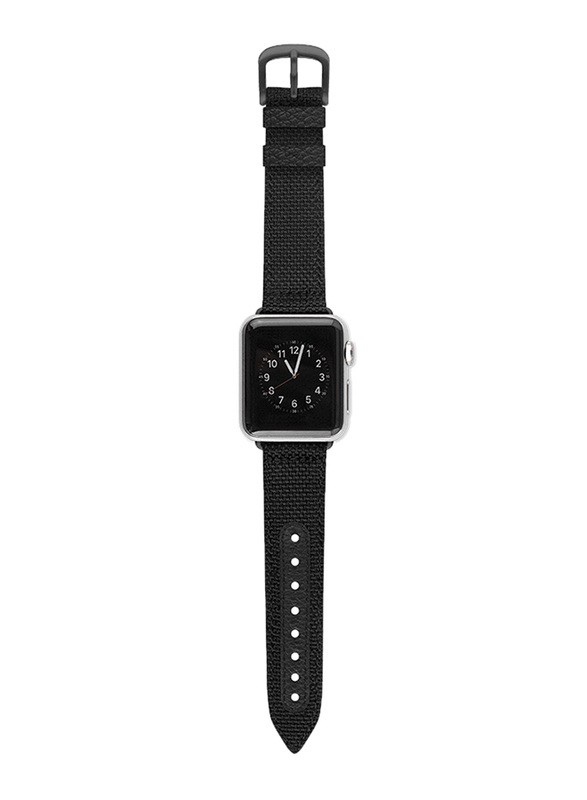 Evutec Northill Series Watch Band for Apple Watch 40mm/38mm Series 4/3/2/1, Black