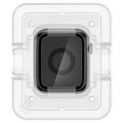 Spigen Apple Watch 44mm (Series 5 / 4) Tempered Glass Screen Protector Pro Flex EZ Fit (2-Pack) with Auto Align technology tray