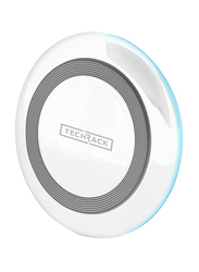 TechRack Freedom X1 Universal Wireless Charging Pad, 10W with Fast Qi Technology, White