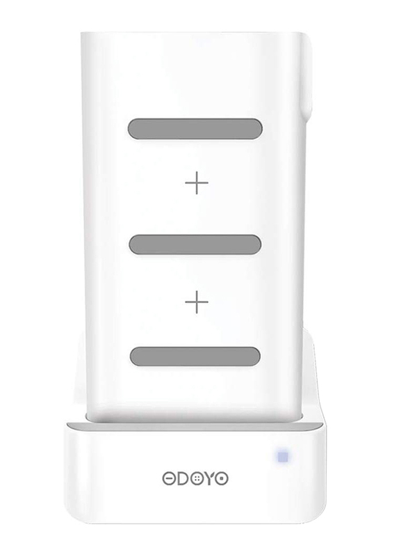 Odoyo 2in1 XC25 Wireless Charging Dock, Qi Enabled, 10W with Portable Battery Pack 6000mAh, White