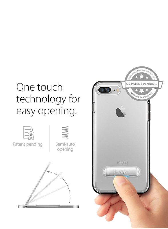 Spigen Apple iPhone 7 Plus Crystal Hybrid Mobile Phone Case Cover, Black