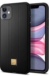 Spigen Apple iPhone 11 PU Case Cover La Manon Classy- Black